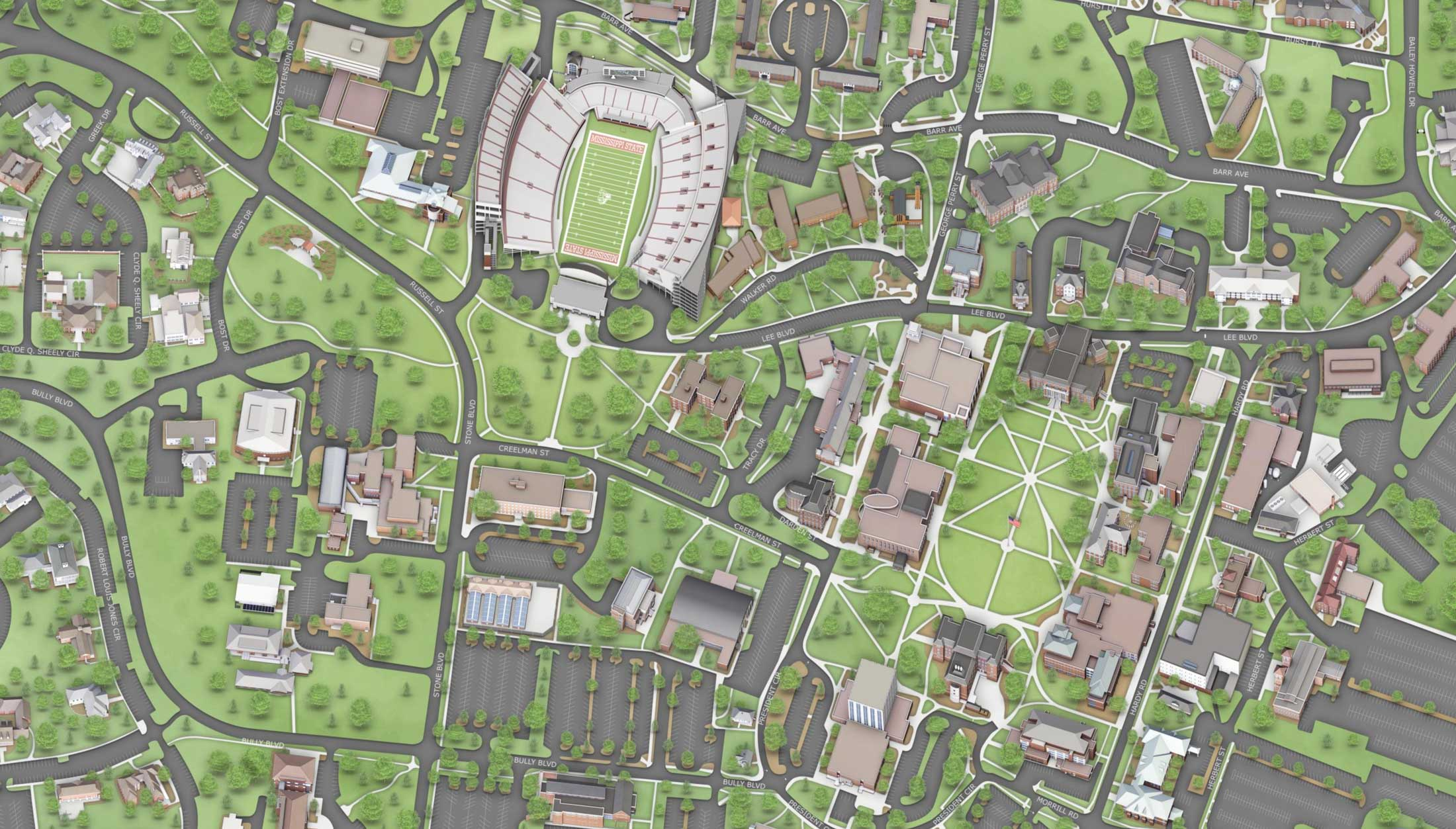 Mississippi State Campus Map Virtual Tour   Office of Admissions and Scholarships
